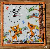 """Для дома и интерьера ручной работы. Ярмарка Мастеров - ручная работа Настенные часы """"Котокляксы"""". Handmade."""