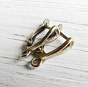 Материалы для творчества handmade. Livemaster - original item Earrings with locking bronze brass (art. 2629). Handmade.