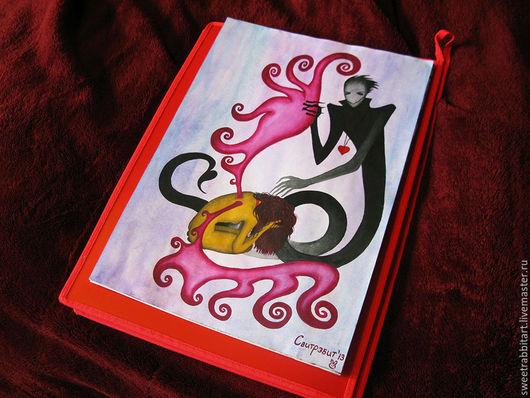"""Символизм ручной работы. Ярмарка Мастеров - ручная работа. Купить Картина """"Его любовь"""". Handmade. Фуксия, готика, демон"""