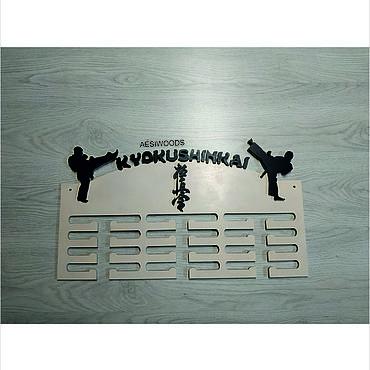 Для дома и интерьера ручной работы. Ярмарка Мастеров - ручная работа Медальница гимнастика карате киокушинкай. Handmade.