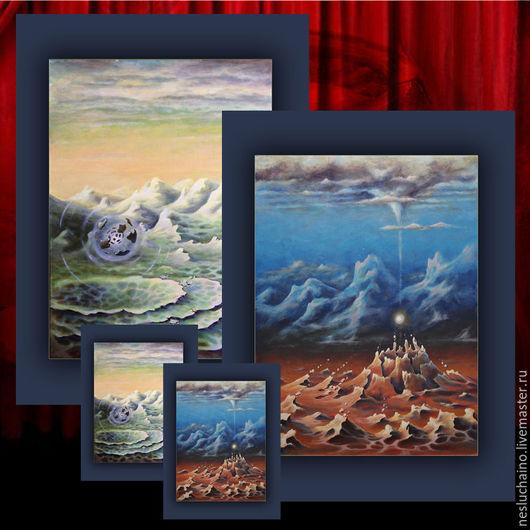 """Медитация ручной работы. Ярмарка Мастеров - ручная работа. Купить Система Амбиентов """"Гравитация"""" - малая форма рунической живописи. Handmade."""