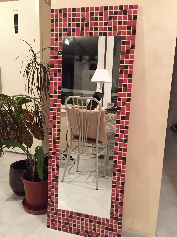 Большое зеркало цветная мозаика