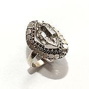 Кольца ручной работы. Ярмарка Мастеров - ручная работа Кольцо с херкимерским алмазом, серебро 925. Handmade.