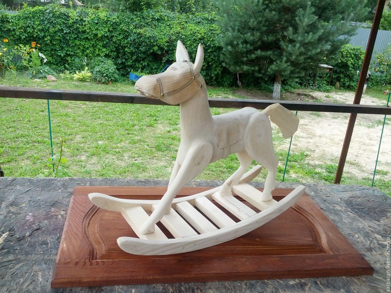 Лошадка-качалка по мотивам старинных игрушек.Дерево, Фото, Покров,  Фото №1