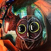 Аксессуары ручной работы. Ярмарка Мастеров - ручная работа Расписной зонт Волшебная сова. Handmade.