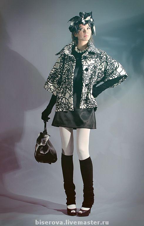 Верхняя одежда ручной работы. Ярмарка Мастеров - ручная работа. Купить Пальто с цельнокроеным рукавом из натуральный шерсти. Handmade. Пальто