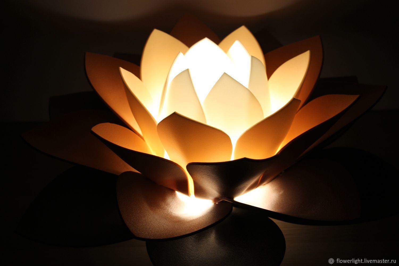 Lotus night Light Cappuccino Lamp table floor Gift, Nightlights, Tula,  Фото №1
