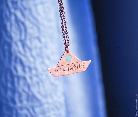 """Кулоны, подвески ручной работы. Ярмарка Мастеров - ручная работа. Купить Кулон из меди """"Море внутри (Sea inside). Handmade."""