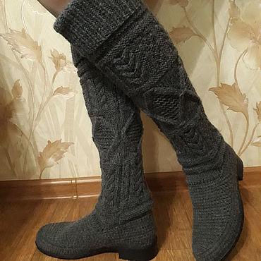 """Обувь ручной работы. Ярмарка Мастеров - ручная работа Сапоги женские вязаные """"Маренго"""". Handmade."""
