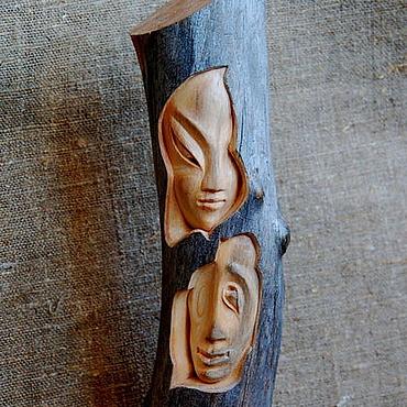 """Для дома и интерьера ручной работы. Ярмарка Мастеров - ручная работа Статуэтка из дерева """"Она и Он"""". Handmade."""