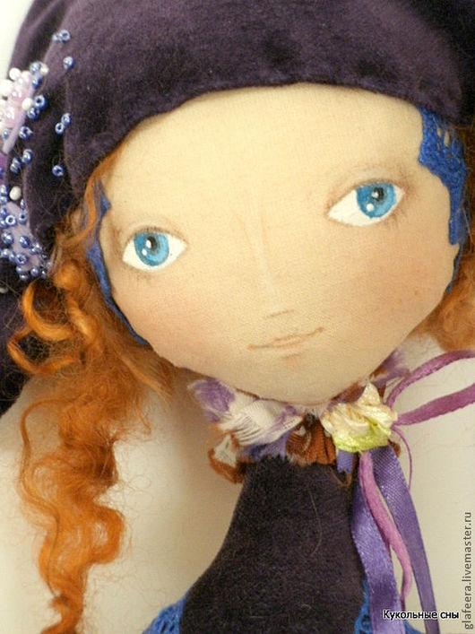 """Коллекционные куклы ручной работы. Ярмарка Мастеров - ручная работа. Купить """"Душа Коломбины"""" коллекционная кукла. Handmade. Тёмно-фиолетовый"""