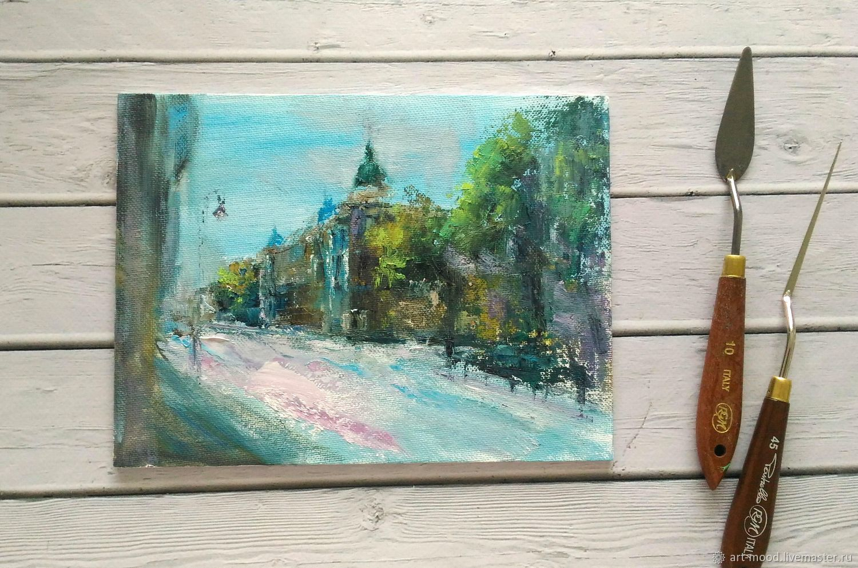 АКЦИЯ! Лето. Небольшая картина маслом, Картины, Санкт-Петербург,  Фото №1