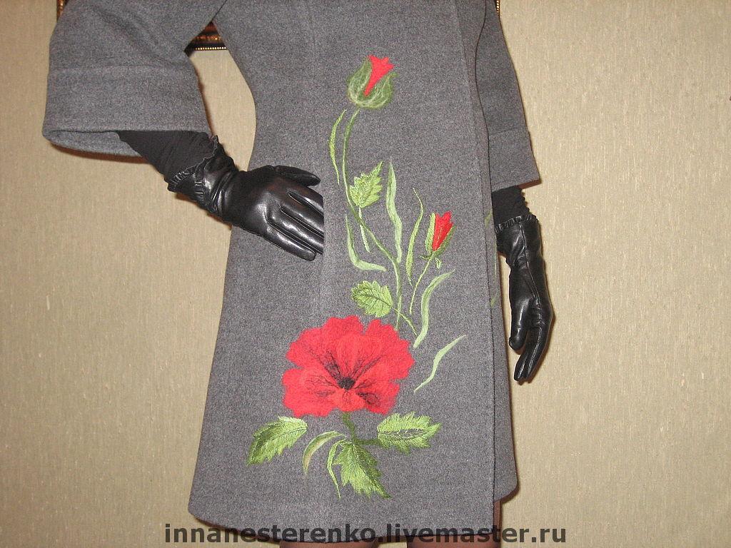 Рисунки на одежде из шерсти и