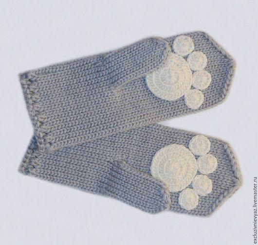 Варежки, митенки, перчатки ручной работы. Ярмарка Мастеров - ручная работа. Купить Варежки с лапками. Handmade. Варежки с лапками