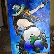 """Картины и панно ручной работы. Ярмарка Мастеров - ручная работа Картина маслом """"Мир"""". Handmade."""
