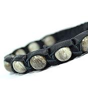 Украшения ручной работы. Ярмарка Мастеров - ручная работа Кожаный браслет Шамбала с яшмой. Handmade.