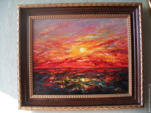 Закат на море, что может быть прекрасней?!! Эта картина предназначена для ярких ,неординарных людей,которые всегда находятся в поиске чего то не обычного.