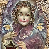 Украшения ручной работы. Ярмарка Мастеров - ручная работа Сиреневый Ангел (колье). Handmade.