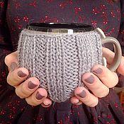 "Для дома и интерьера handmade. Livemaster - original item A mug in a warmer ""Breakfast for the Beloved"". Handmade."