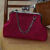 Сумки и аксессуары handmade. Livemaster - original item Classic bag made of eco-suede Burgundy. Handmade.