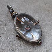 Украшения handmade. Livemaster - original item Pendant with crystal, spinel and grenades. Handmade.