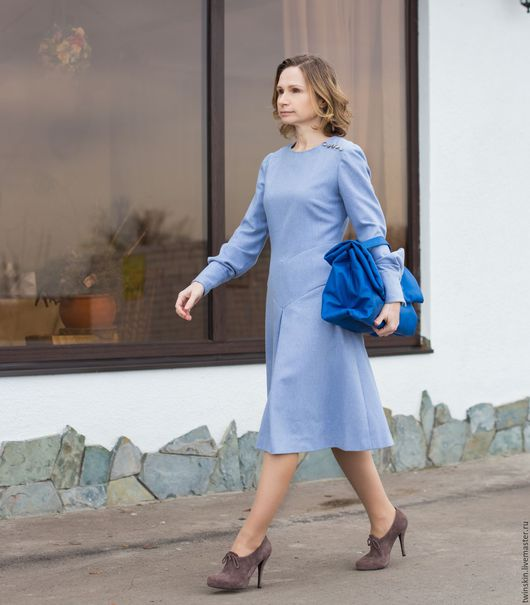 Пухляк, дутый, синий, кожаный портфель, женский портфель, сумка с ручками, сумка портфель, портфель женский, сумка для документов, портфель, портфель купить.TwinSkin, осенняя мода 2016