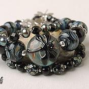 Украшения handmade. Livemaster - original item Gothic bracelet with black dragonfly. Handmade.