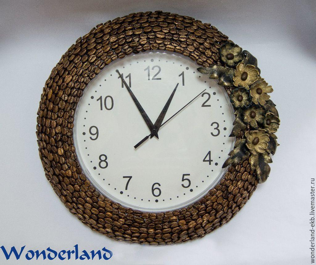 Часы в кофейном стиле своими руками 50