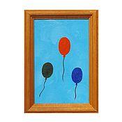 """Картины и панно ручной работы. Ярмарка Мастеров - ручная работа """"Вверх!"""" миниатюрная картина маслом. Handmade."""