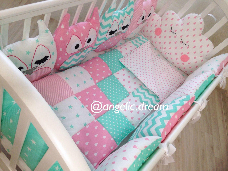 Бортики в кроватку своими руками выкройки для девочек