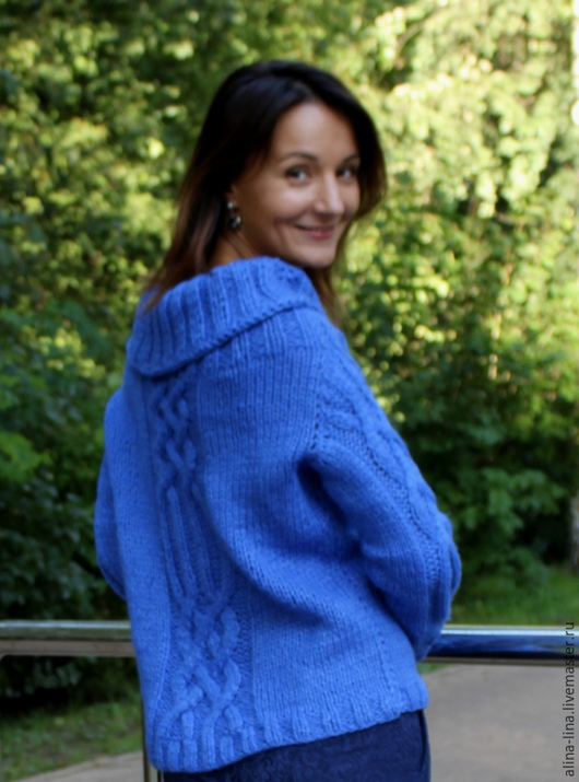 """Кофты и свитера ручной работы. Ярмарка Мастеров - ручная работа. Купить Синий джемпер """"Царский"""". Handmade. Синий, теплый, нарядный"""