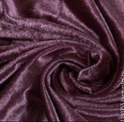 Материалы для творчества ручной работы. Ярмарка Мастеров - ручная работа итальянский бархат шелк темно-фиолетовый шир. 130см. Handmade.