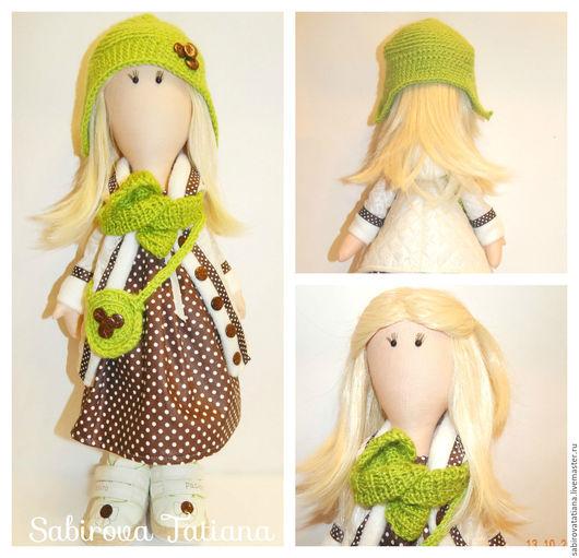 Коллекционные куклы ручной работы. Ярмарка Мастеров - ручная работа. Купить Интерьерная кукла из ткани. Handmade. Кукла интерьерная, Снежка