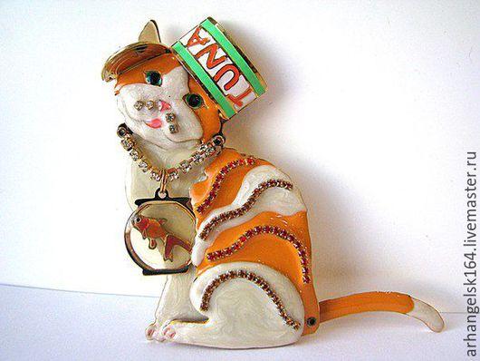Винтажные украшения. Ярмарка Мастеров - ручная работа. Купить Брошь-кулон от Lunch at the Ritz LATR 2 GO. Handmade.