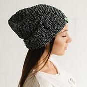 handmade. Livemaster - original item Hemp hat black and gray HEMPHAT #095. Handmade.