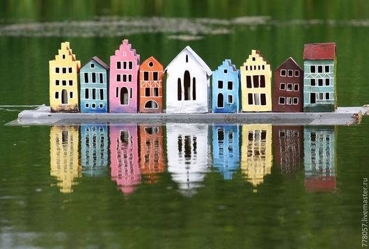 Экстерьер и дача ручной работы. Ярмарка Мастеров - ручная работа. Купить город на воде. Handmade. Дом, пруд, венеция