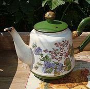 """Посуда ручной работы. Ярмарка Мастеров - ручная работа Чайничек """"Цветочный"""". Кольчугино. Handmade."""