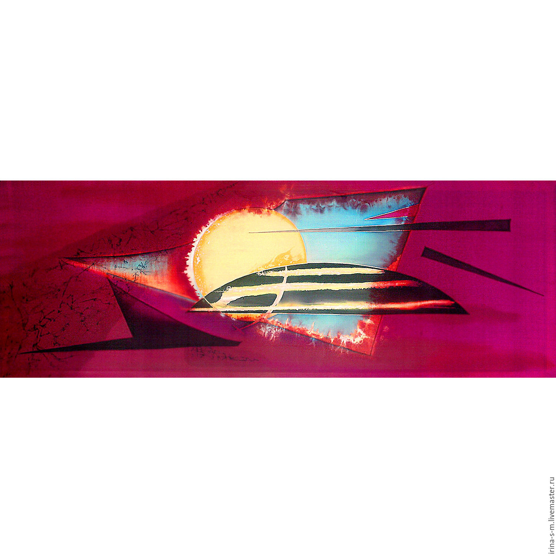 Панно. Батик. натуральный шелк. Восход, Браслеты, Липецк, Фото №1