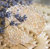 Свадебный салон ручной работы. Ярмарка Мастеров - ручная работа Кружевной браслет Jardin. Handmade.
