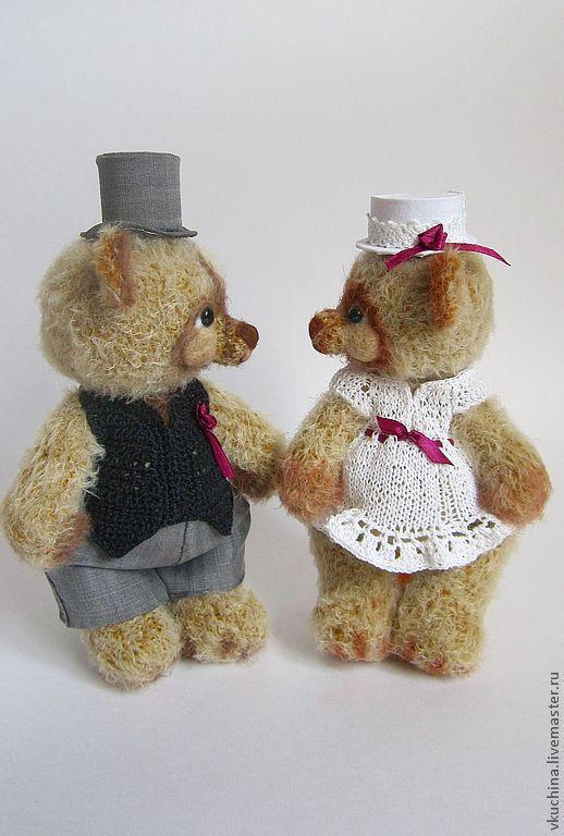 Мишки Тедди ручной работы. Ярмарка Мастеров - ручная работа. Купить Свадебные мишки вязаные. Handmade. Бежевый, свадебные мишки