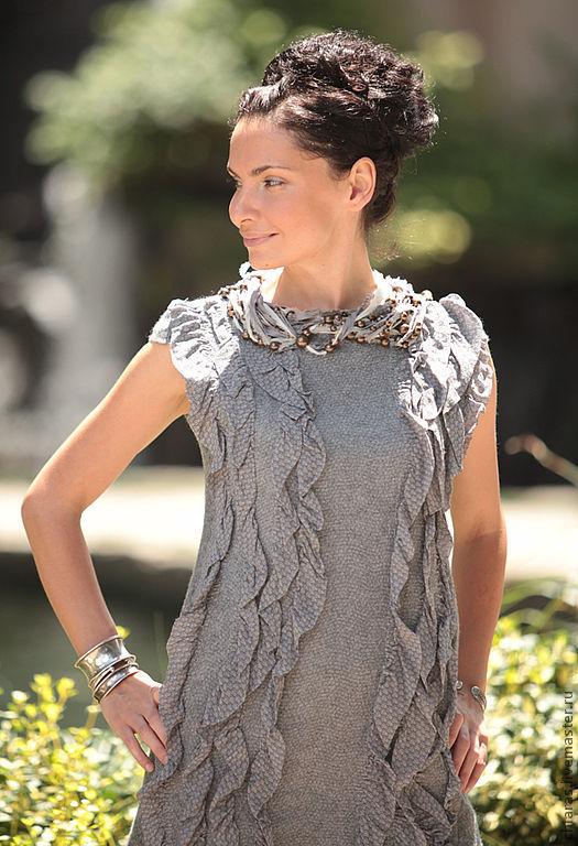 Платья ручной работы. Ярмарка Мастеров - ручная работа. Купить grey dress. Handmade. Grey dress, серое платье, wool