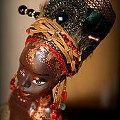 Куклы и игрушки ручной работы. Ярмарка Мастеров - ручная работа Марджани_Африканские ночи. Коллекционная кукла.. Handmade.