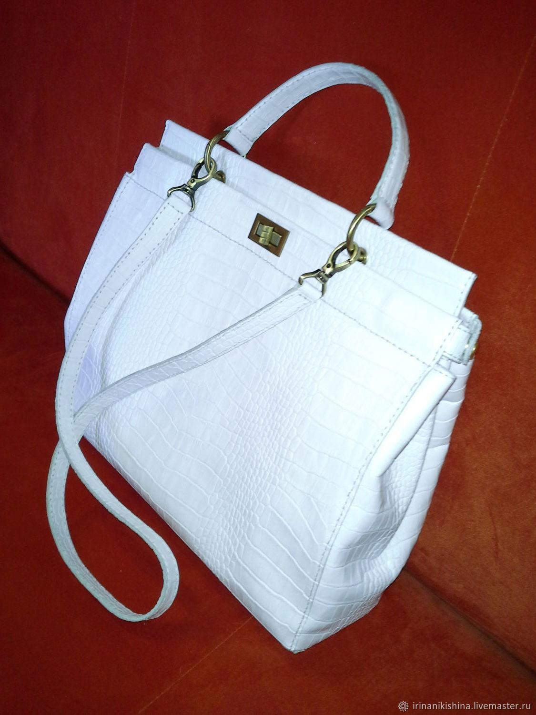 2efb086673d2 ... Женские сумки ручной работы. Заказать Большая белая сумка. Ирина  Никишина. Ярмарка Мастеров. ...