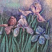 Картины и панно ручной работы. Ярмарка Мастеров - ручная работа Ирисовая сказка.... Handmade.