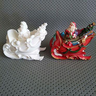 Материалы для творчества ручной работы. Ярмарка Мастеров - ручная работа Дед Мороз в санях. Handmade.