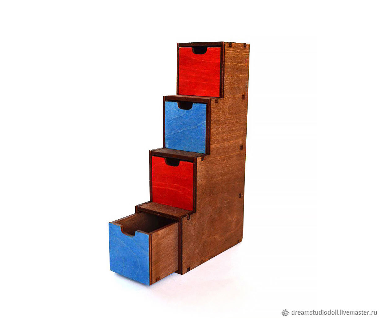 Rack-ladder with boxes for dolls 1:6 (YoSD), Doll furniture, St. Petersburg,  Фото №1