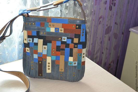 """Женские сумки ручной работы. Ярмарка Мастеров - ручная работа. Купить сумка -планшет """"Мозаика"""". Handmade. Разноцветный, сумка повседневная"""