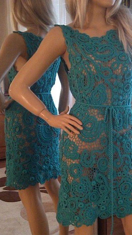 """Платья ручной работы. Ярмарка Мастеров - ручная работа. Купить Платье вязаное """" красотка"""". Handmade. Вязаное платье крючком"""