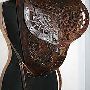 Сумки и аксессуары ручной работы. Ярмарка Мастеров - ручная работа Рюкзак кожаный резной. Handmade.