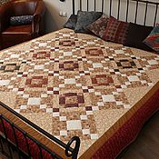 Blankets handmade. Livemaster - original item Scarlett patchwork quilt. Handmade.